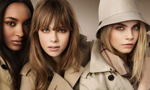 Edie Campbell for Burberry Beauty A/W2012, FashionBite