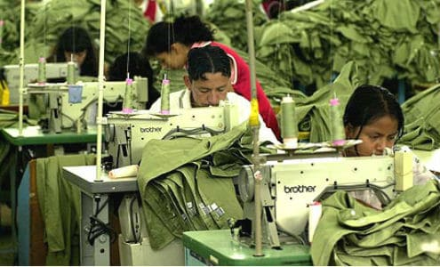 Asian sweatshop workers have demanded higher wages