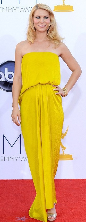 Emmys Fashion looks, FashionBite, Clare Danes in yellow Jeanne Lanvin