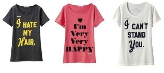 The iconic Antoni & Alison slogan T-shirt, re-designed for Uniqlo