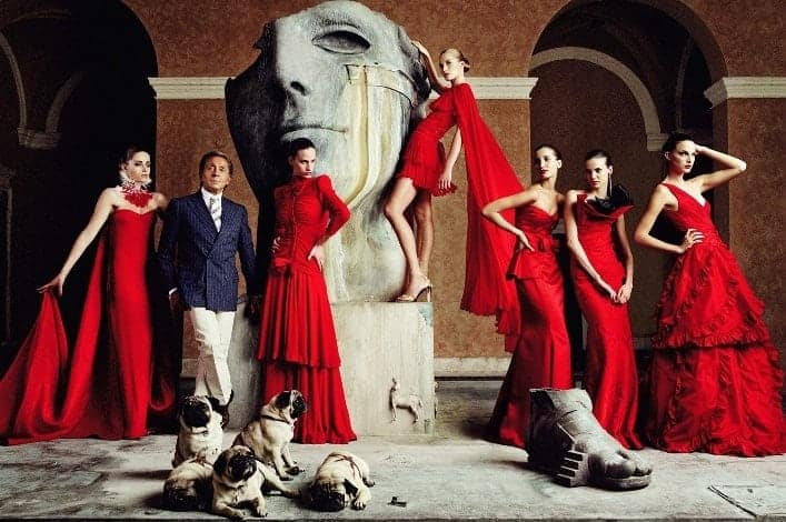 Valentino master of couture exhibition at somerset house
